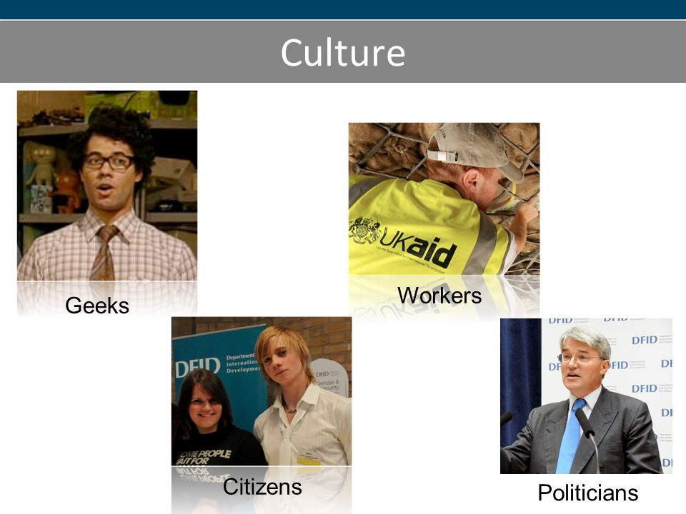 Culture Geeks Workers Citizens Politicians