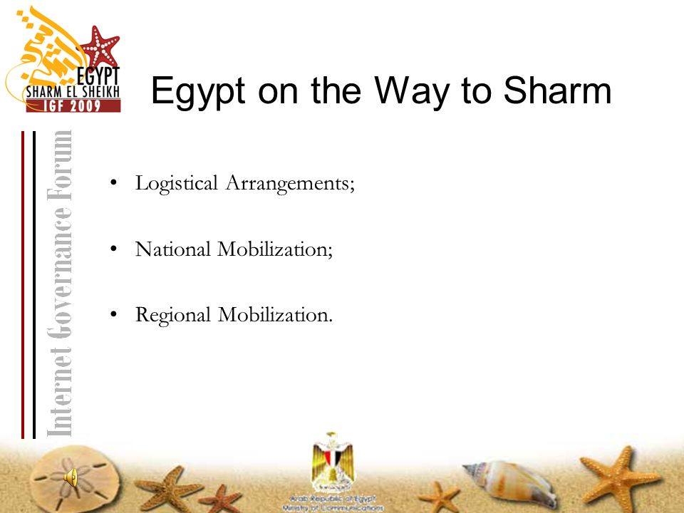 Egypt on the Way to Sharm Logistical Arrangements; National Mobilization; Regional Mobilization.