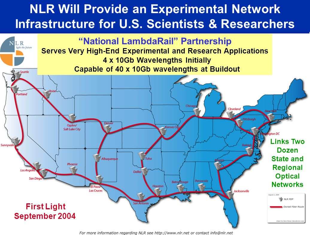 NLR Will Provide an Experimental Network Infrastructure for U.S.