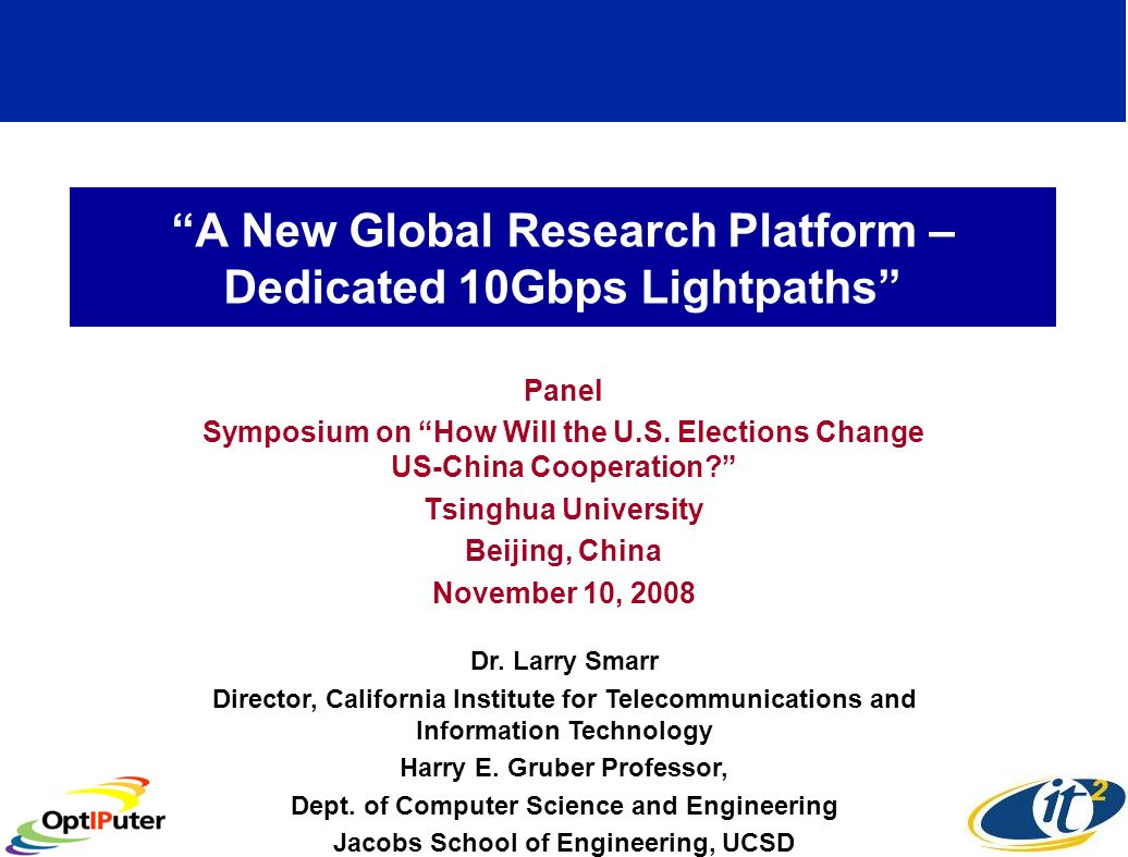 Opportunity for Collaborative Research Between UCSD-Tsinghua University?