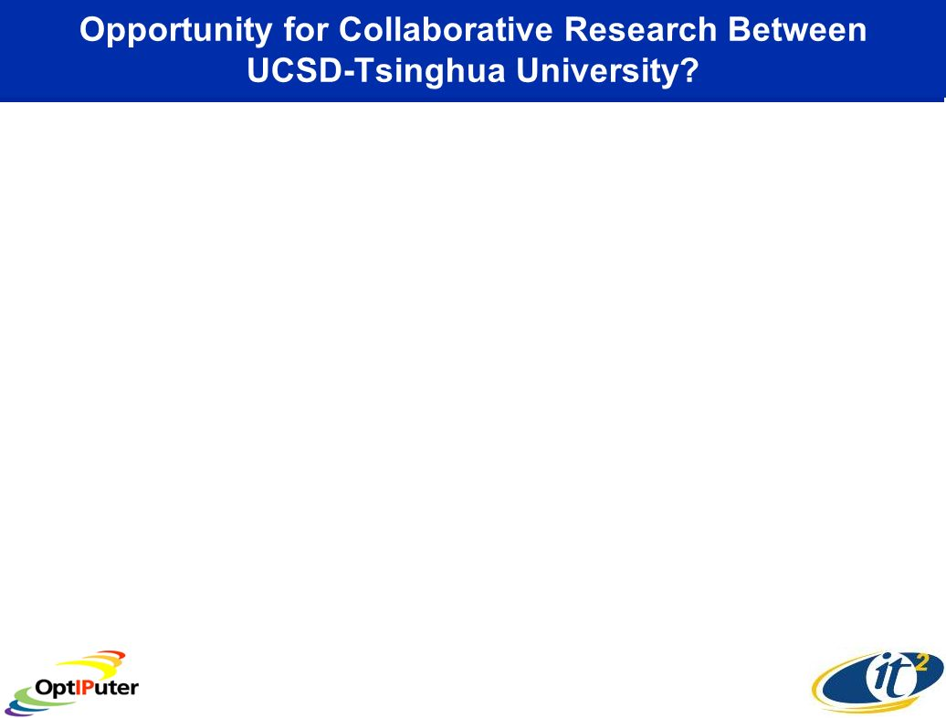 Opportunity for Collaborative Research Between UCSD-Tsinghua University