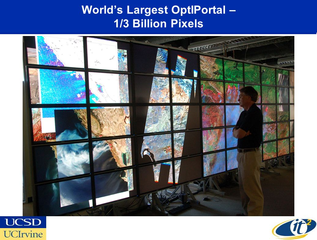 Worlds Largest OptIPortal – 1/3 Billion Pixels