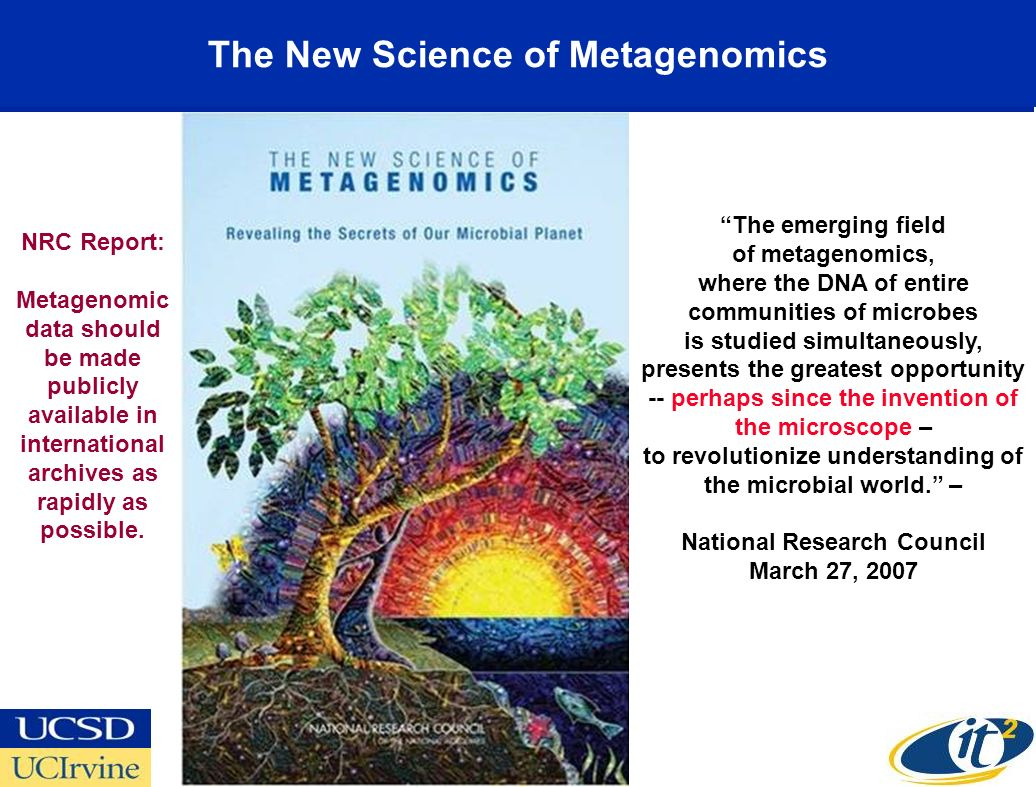 The New Science of Metagenomics The emerging field of metagenomics, where the DNA of entire communities of microbes is studied simultaneously, presents the greatest opportunity -- perhaps since the invention of the microscope – to revolutionize understanding of the microbial world.