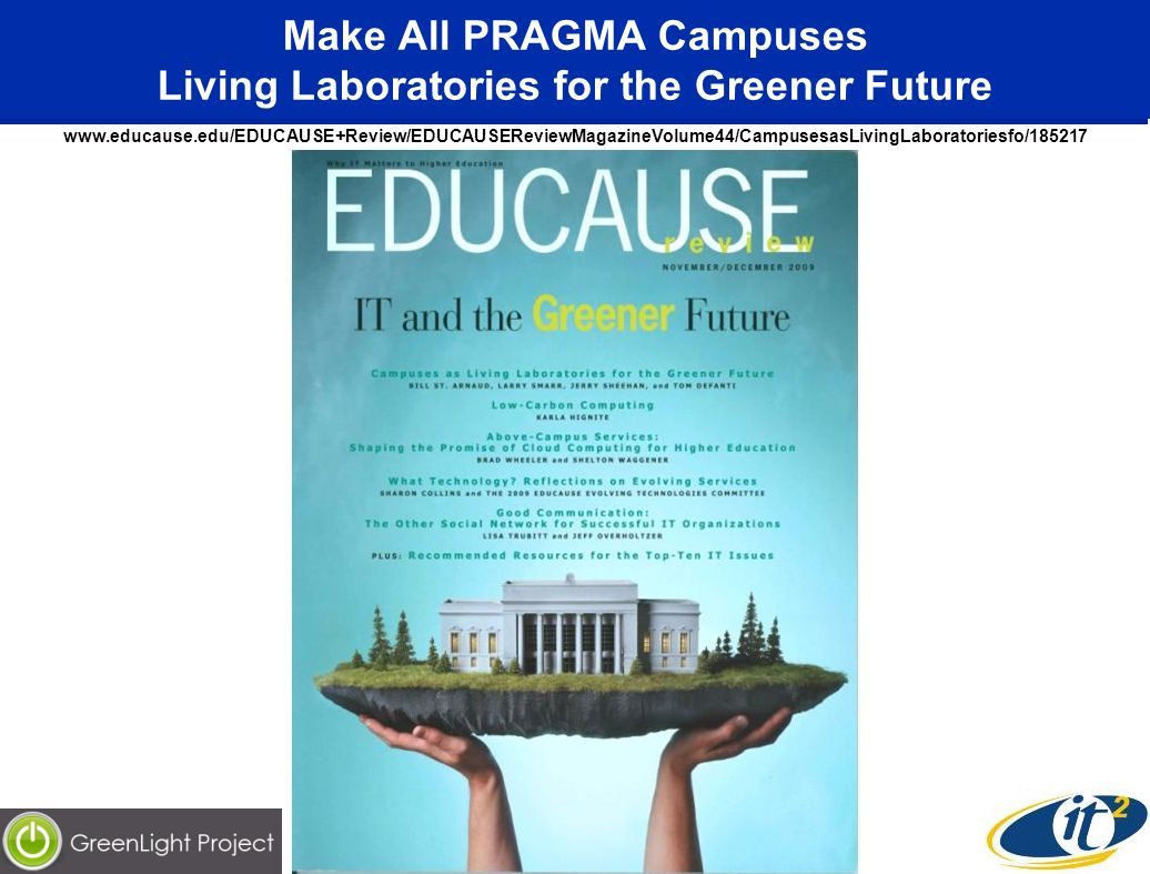 Make All PRAGMA Campuses Living Laboratories for the Greener Future