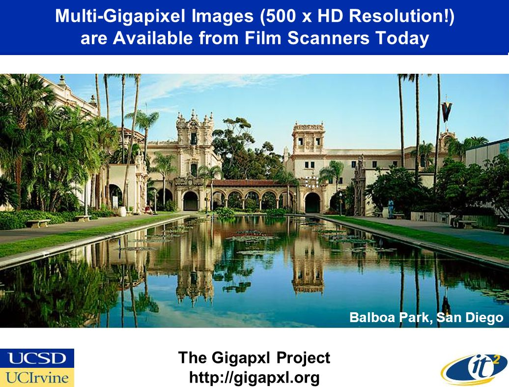 Multi-Gigapixel Images (500 x HD Resolution!) are Available from Film Scanners Today The Gigapxl Project http://gigapxl.org Balboa Park, San Diego