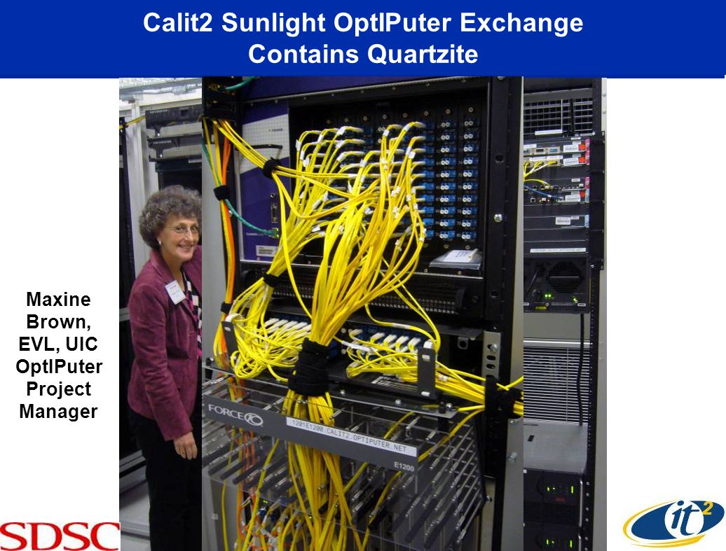 Calit2 Sunlight OptIPuter Exchange Contains Quartzite Maxine Brown, EVL, UIC OptIPuter Project Manager