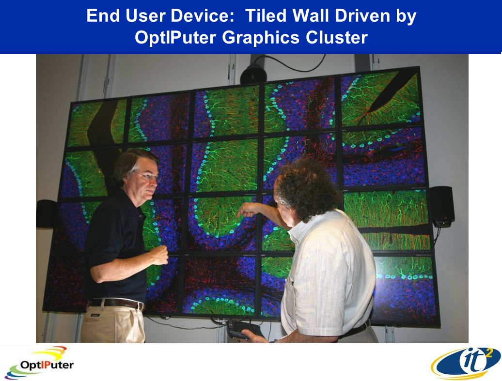 End User Device: Tiled Wall Driven by OptIPuter Graphics Cluster