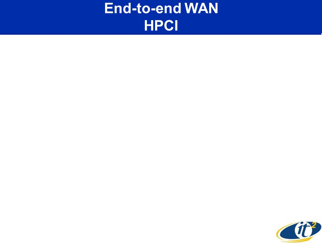 End-to-end WAN HPCI