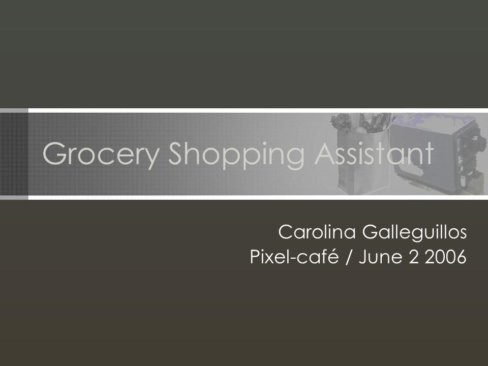 Grocery Shopping Assistant Carolina Galleguillos Pixel-café / June 2 2006