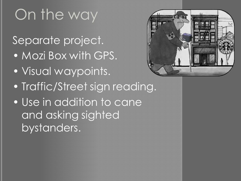 On the way Separate project. Mozi Box with GPS. Visual waypoints.