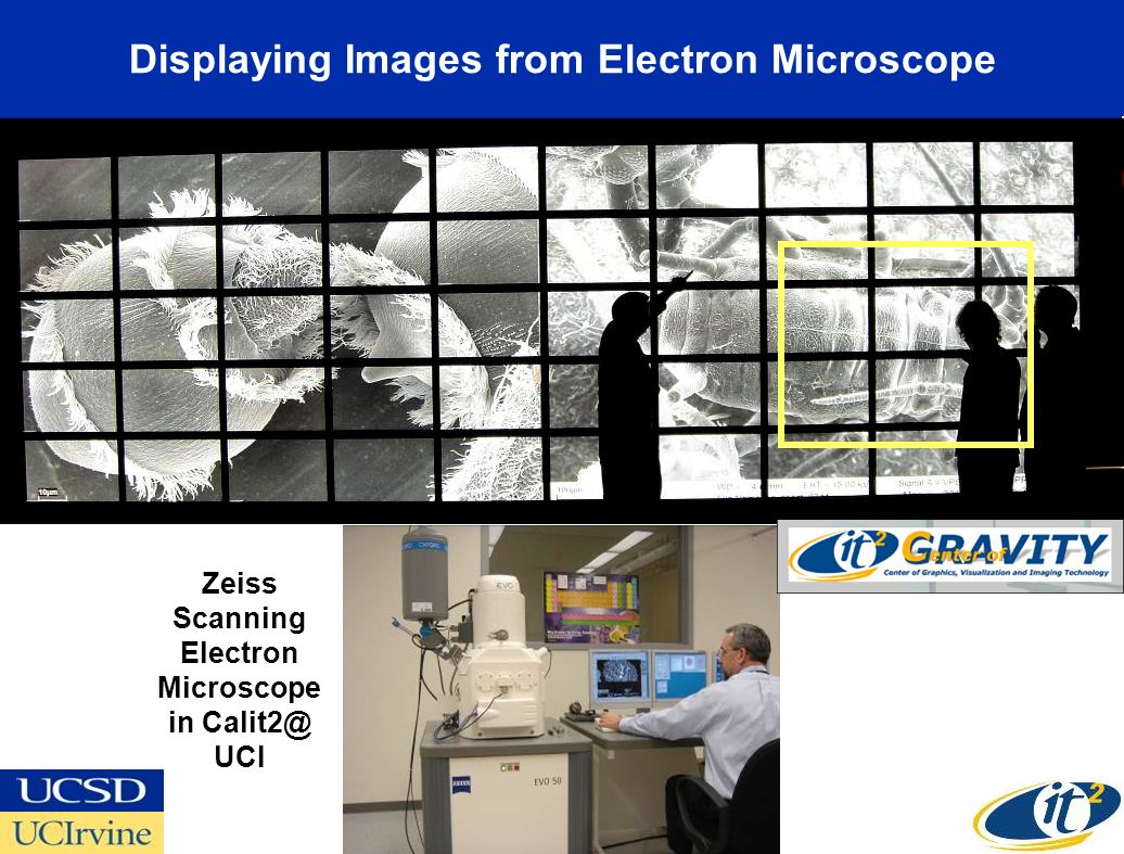 Displaying Images from Electron Microscope Zeiss Scanning Electron Microscope in UCI