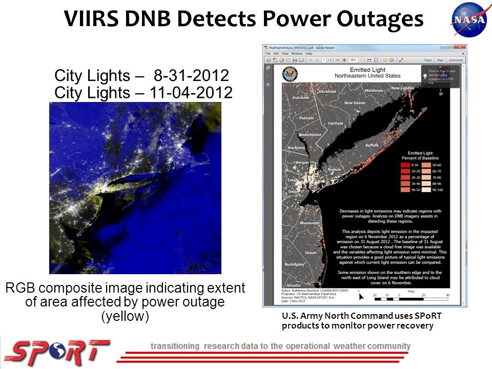 VIIRS DNB Detects Power Outages U.S.