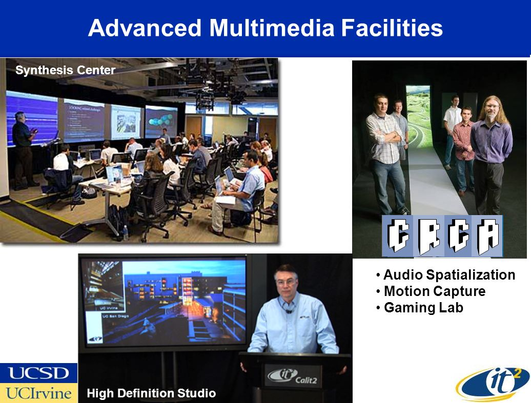 Advanced Multimedia Facilities High Definition Studio Audio Spatialization Motion Capture Gaming Lab Synthesis Center