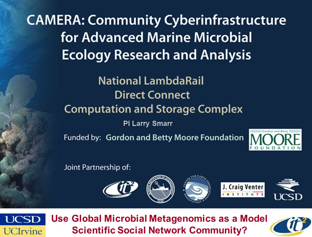 PI Larry Smarr Use Global Microbial Metagenomics as a Model Scientific Social Network Community