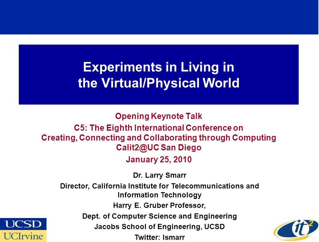 Multi-User Global Workspace: San Diego, Chicago, Saudi Arabia Source: Tom DeFanti, KAUST Project, Calit2