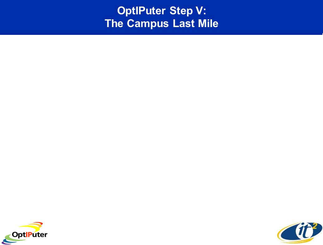 OptIPuter Step V: The Campus Last Mile