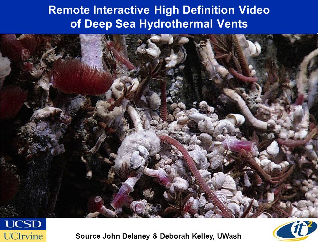 Remote Interactive High Definition Video of Deep Sea Hydrothermal Vents Source John Delaney & Deborah Kelley, UWash Canadian-U.S.
