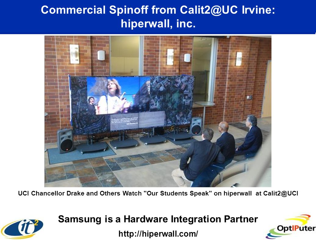 Commercial Spinoff from Calit2@UC Irvine: hiperwall, inc.