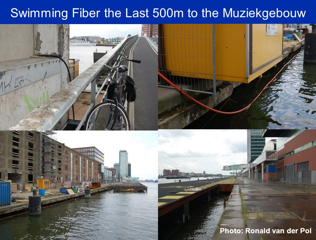 Swimming Fiber the Last 500m to the Muziekgebouw Photo: Ronald van der Pol