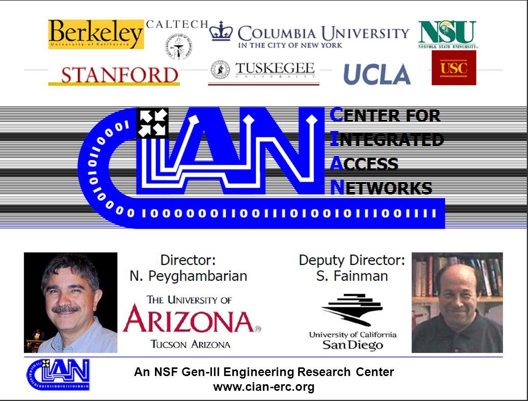 An NSF Gen-III Engineering Research Center www.cian-erc.org