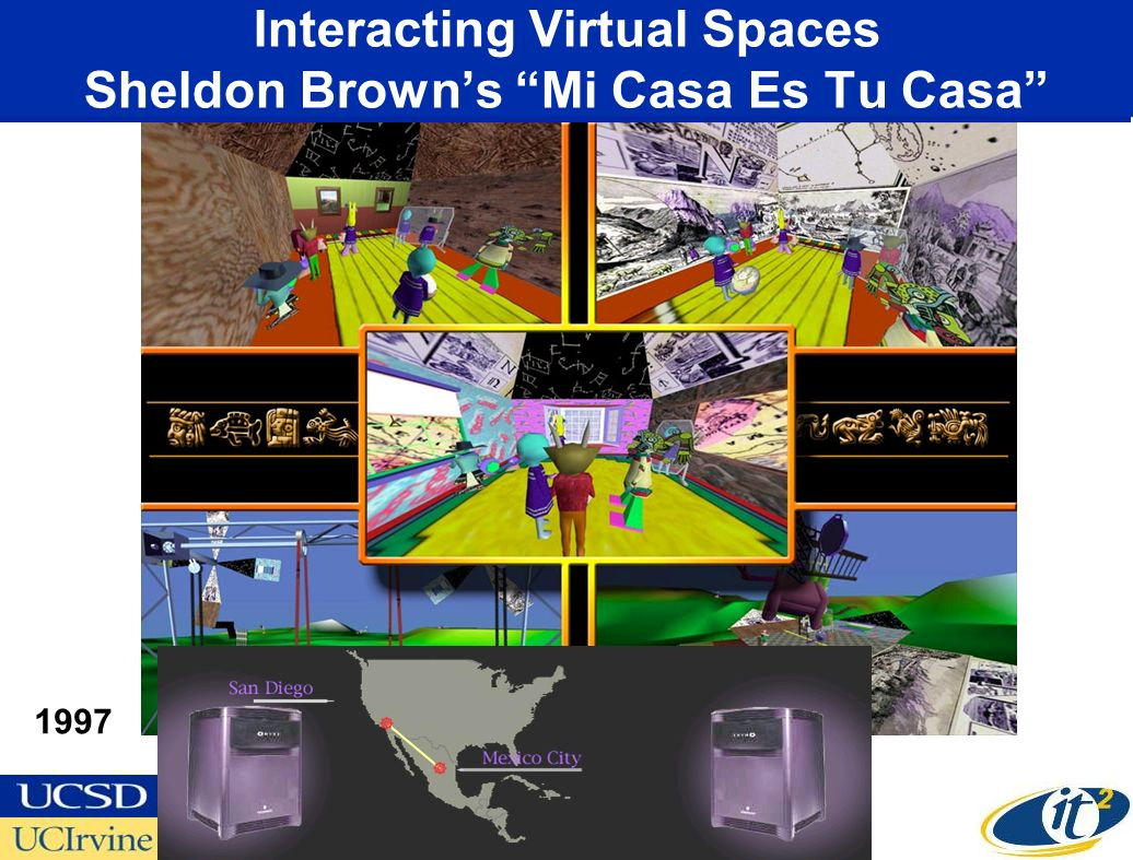 Interacting Virtual Spaces Sheldon Browns Mi Casa Es Tu Casa 1997