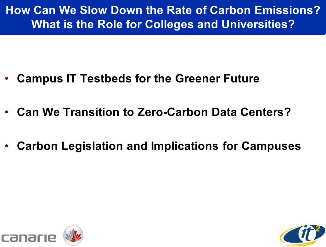 How Can We Slow Down the Rate of Carbon Emissions.
