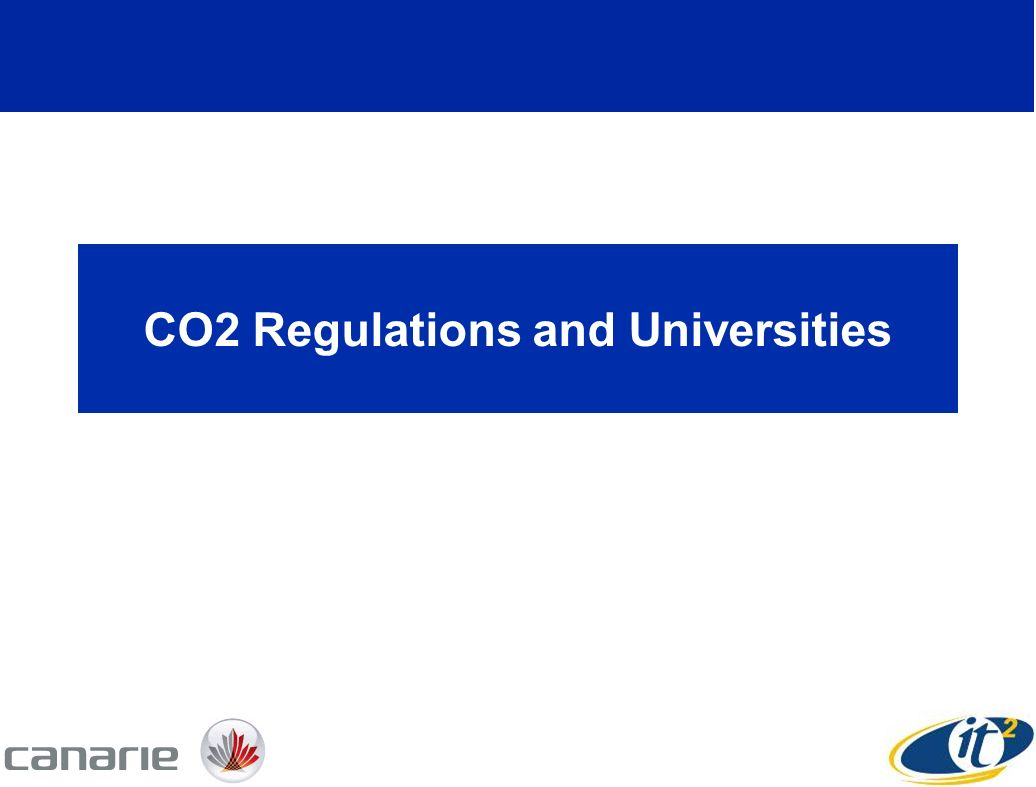 CO2 Regulations and Universities