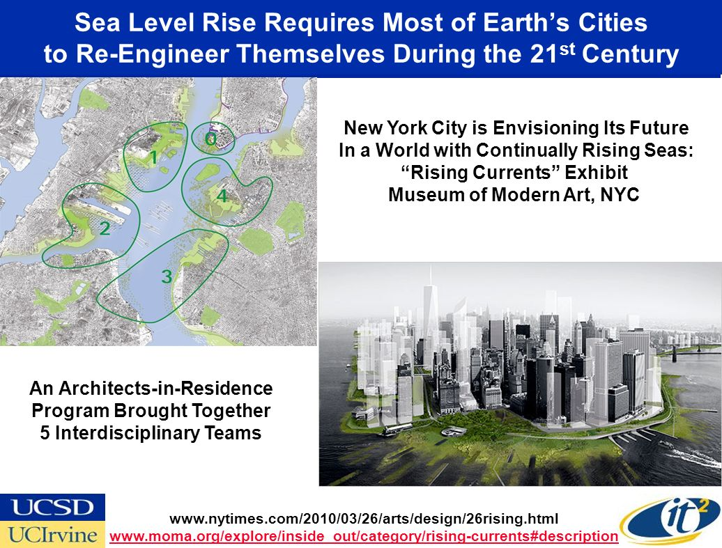 Sea Level Rise Requires Most of Earths Cities to Re-Engineer Themselves During the 21 st Century New York City is Envisioning Its Future In a World wi
