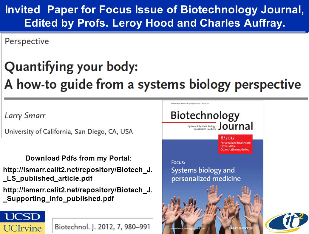 Invited Paper for Focus Issue of Biotechnology Journal, Edited by Profs.