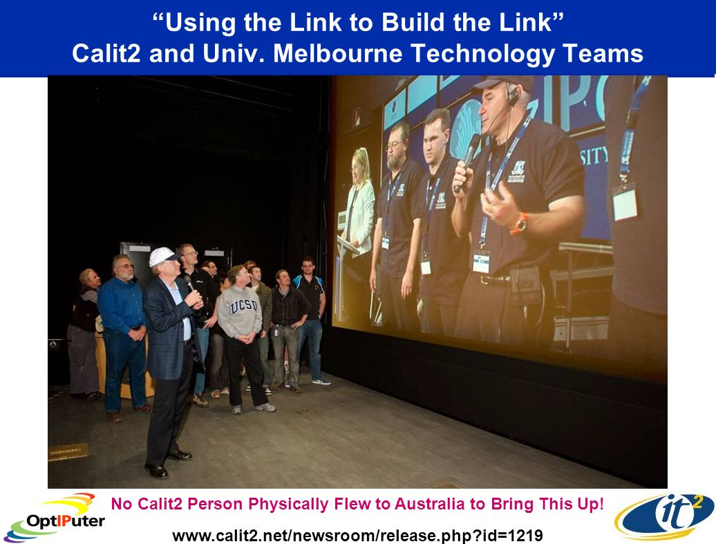 Using the Link to Build the Link Calit2 and Univ.