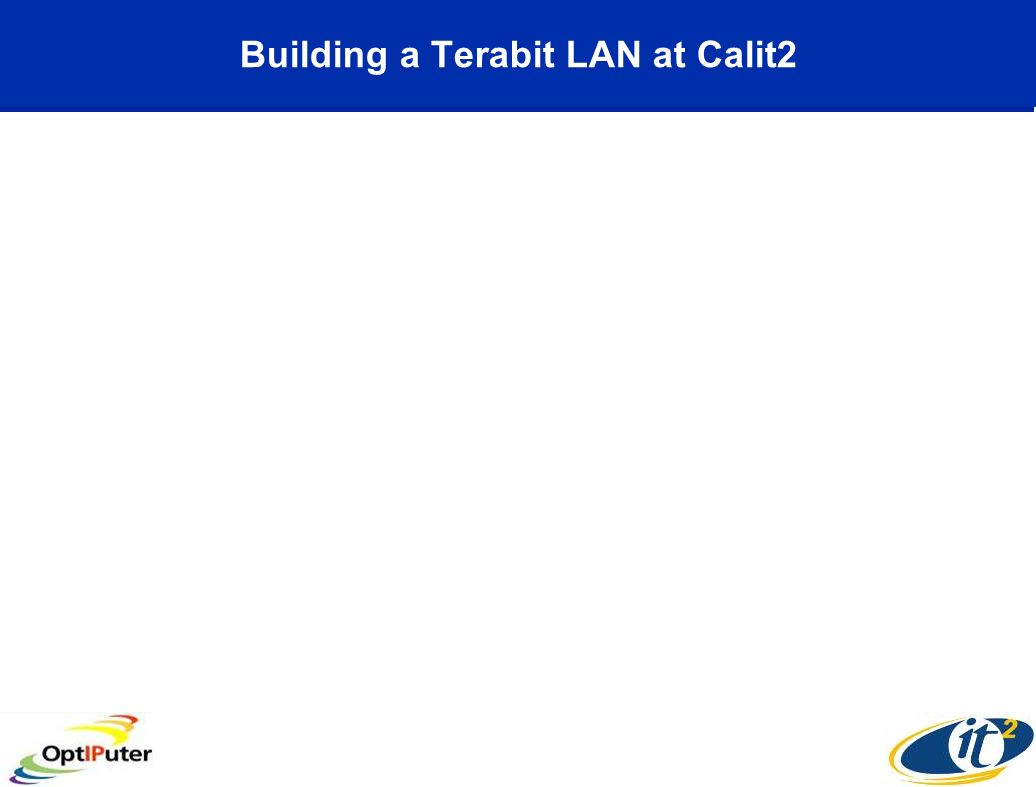 Building a Terabit LAN at Calit2