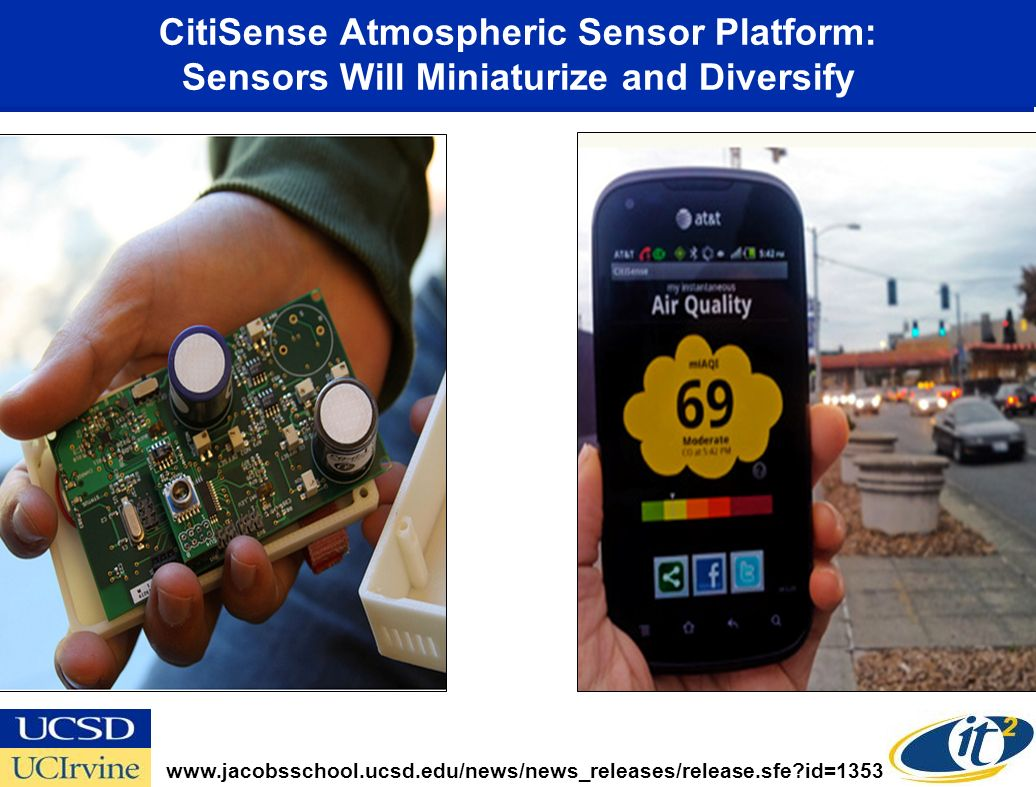 CitiSense Atmospheric Sensor Platform: Sensors Will Miniaturize and Diversify www.jacobsschool.ucsd.edu/news/news_releases/release.sfe id=1353