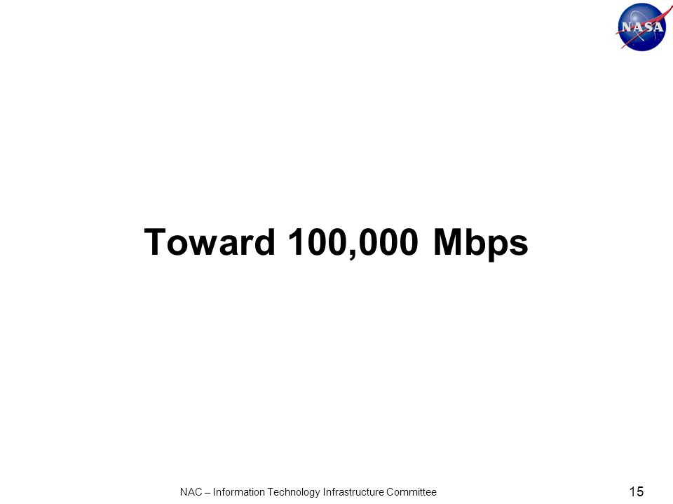 Toward 100,000 Mbps 15 NAC – Information Technology Infrastructure Committee