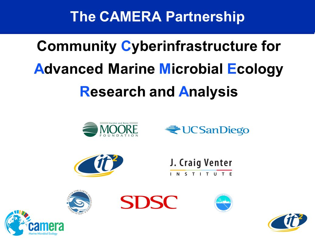 The CAMERA Partnership Community Cyberinfrastructure for Advanced Marine Microbial Ecology Research and Analysis