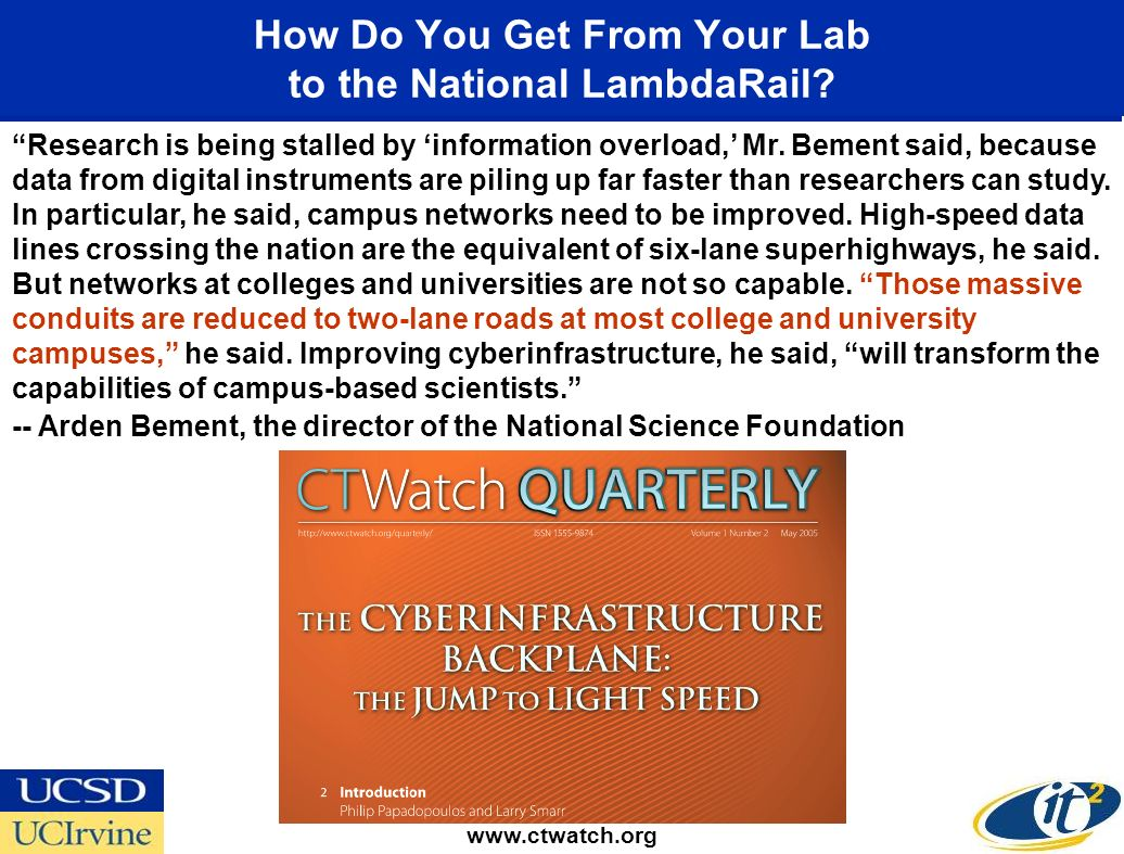 How Do You Get From Your Lab to the National LambdaRail.