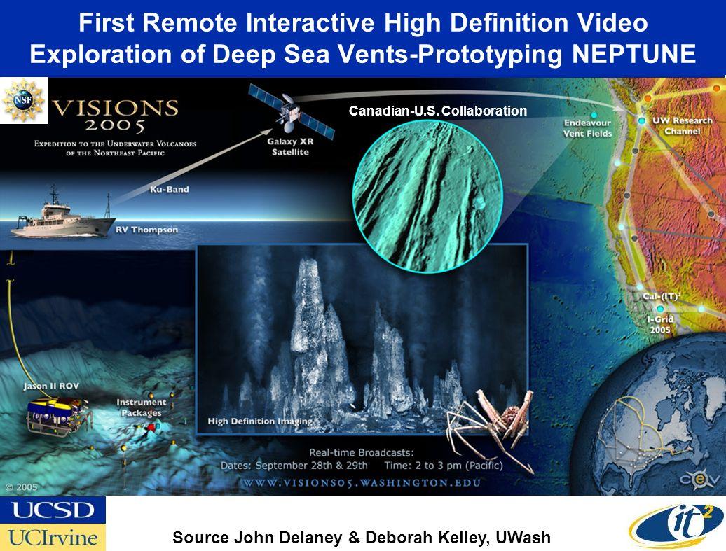 First Remote Interactive High Definition Video Exploration of Deep Sea Vents-Prototyping NEPTUNE Source John Delaney & Deborah Kelley, UWash Canadian-