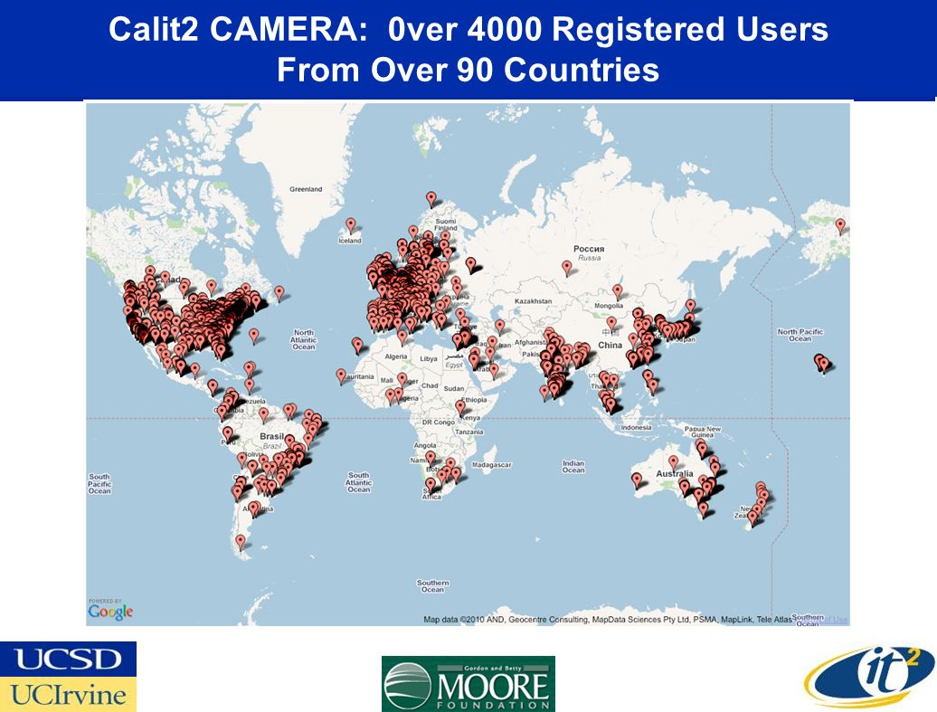Calit2 CAMERA: 0ver 4000 Registered Users From Over 90 Countries