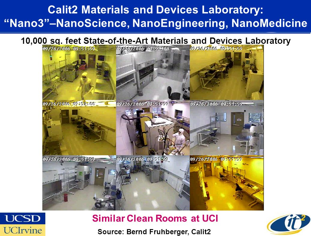 Nano3 Facility CALIT2.UCSD 10,000 sq.