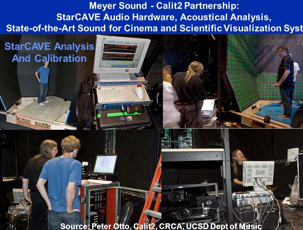 StarCAVE Analysis And Calibration Meyer Sound - Calit2 Partnership: StarCAVE Audio Hardware, Acoustical Analysis, State-of-the-Art Sound for Cinema and Scientific Visualization Systems Source: Peter Otto, Calit2, CRCA, UCSD Dept of Music