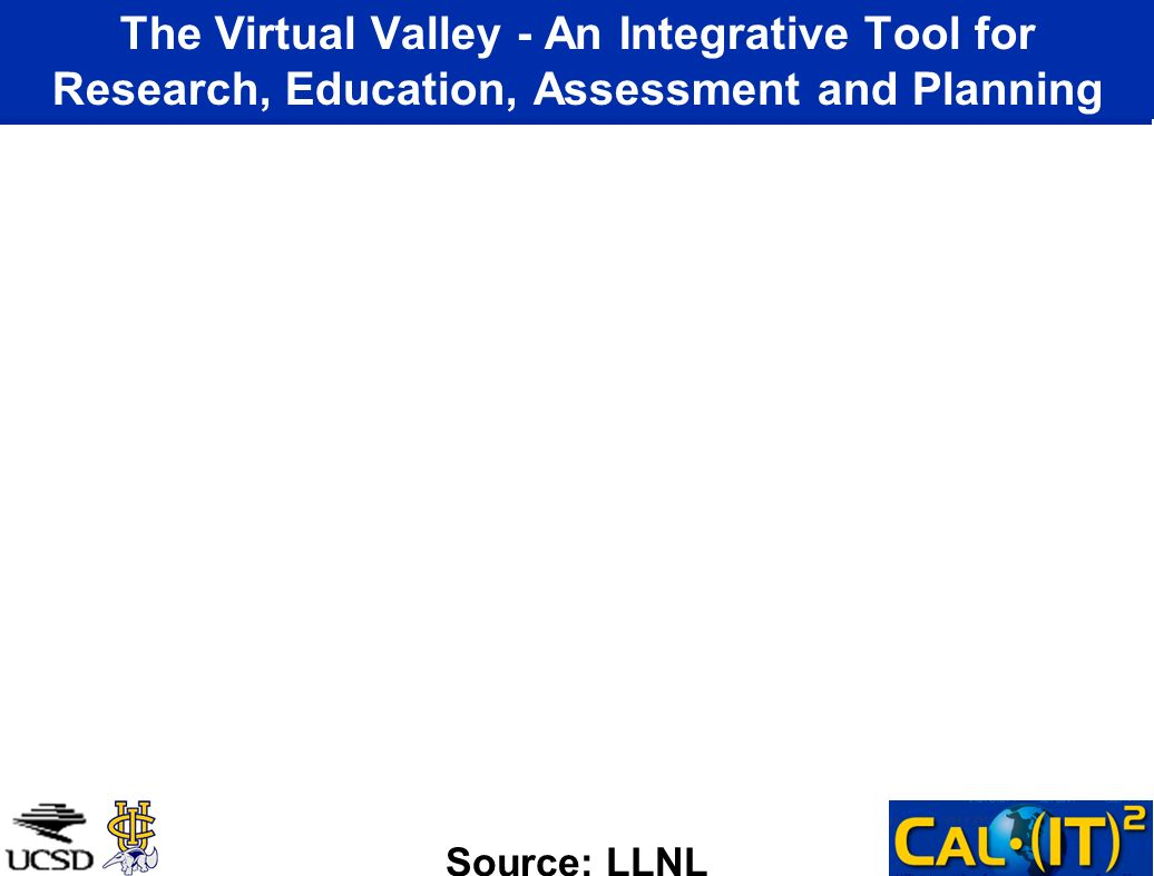 The Virtual Valley - An Integrative Tool for Research, Education, Assessment and Planning Source: LLNL