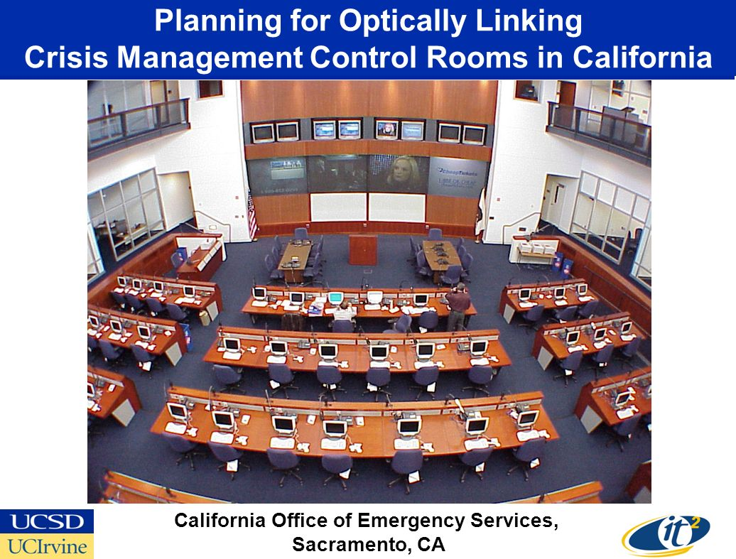 Planning for Optically Linking Crisis Management Control Rooms in California California Office of Emergency Services, Sacramento, CA