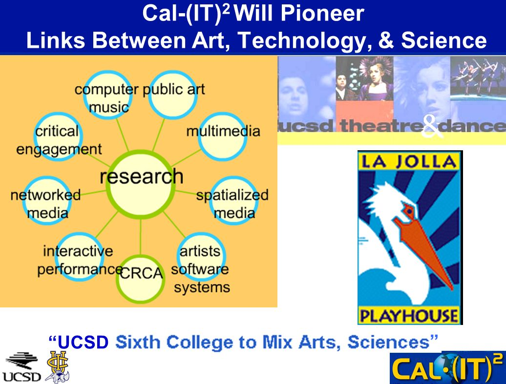 Cal-(IT) 2 Will Pioneer Links Between Art, Technology, & Science UCSD
