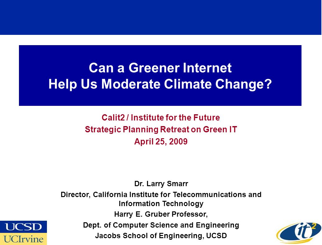 Can a Greener Internet Help Us Moderate Climate Change.