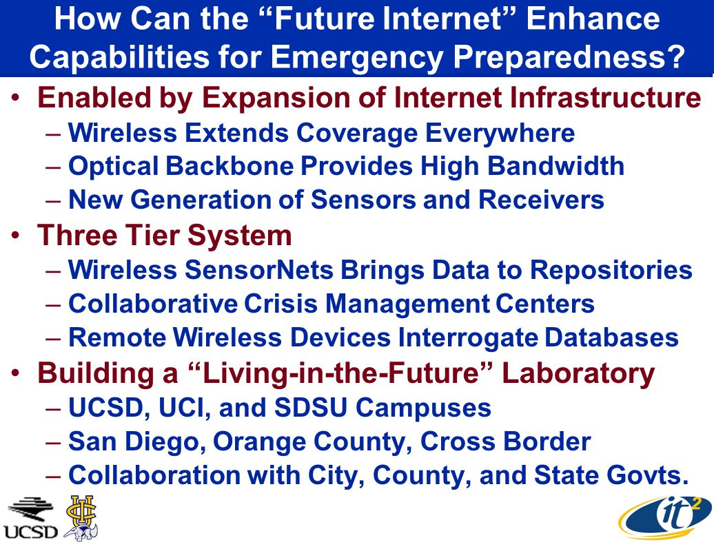 How Can the Future Internet Enhance Capabilities for Emergency Preparedness.