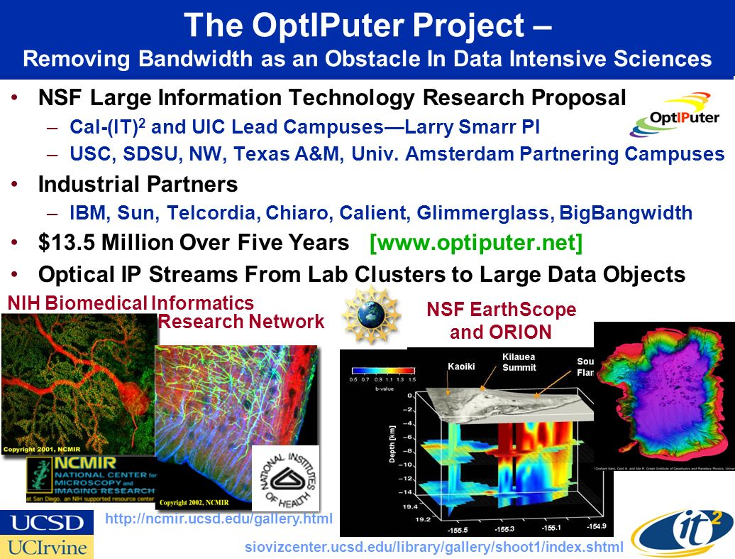 Cyberinfrastructure in Design Phase-- Fiber Optic Satellite Wireless NSFs ORION Ocean Research Interactive Ocean Network www.neptune.washington.edu