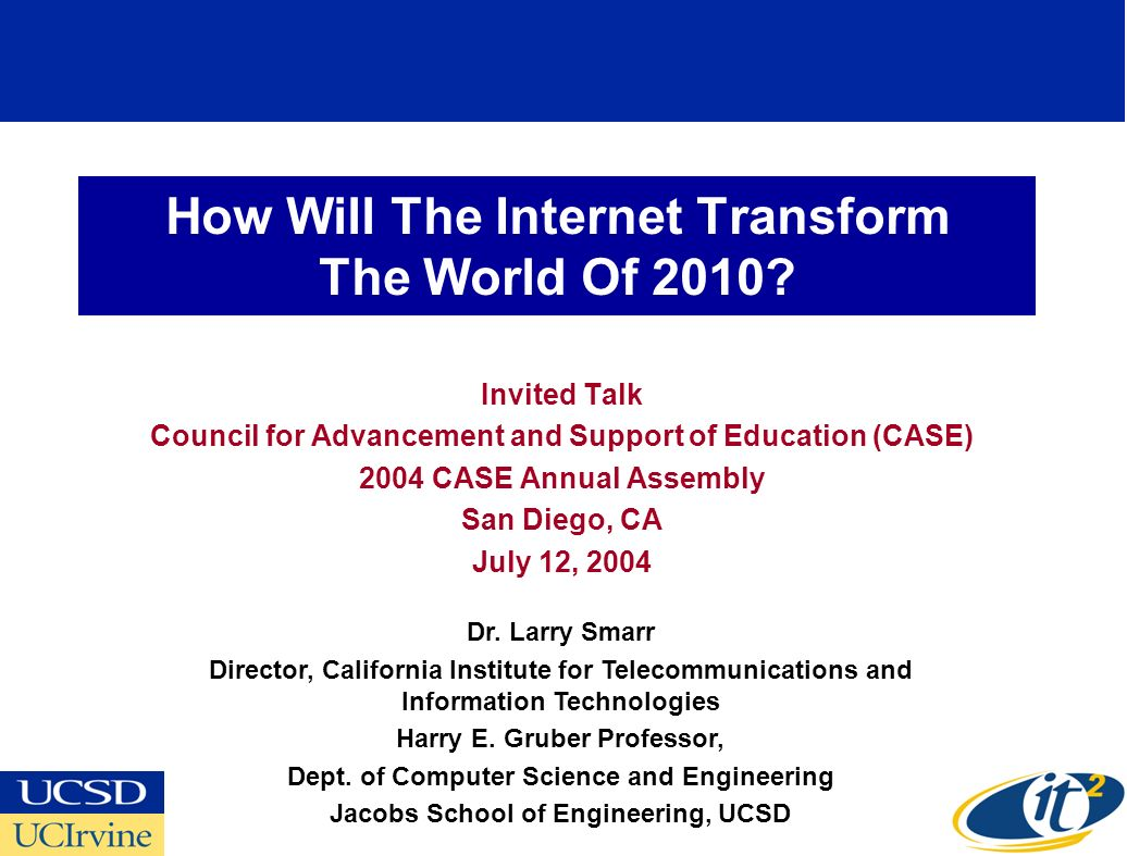 How Will The Internet Transform The World Of 2010.