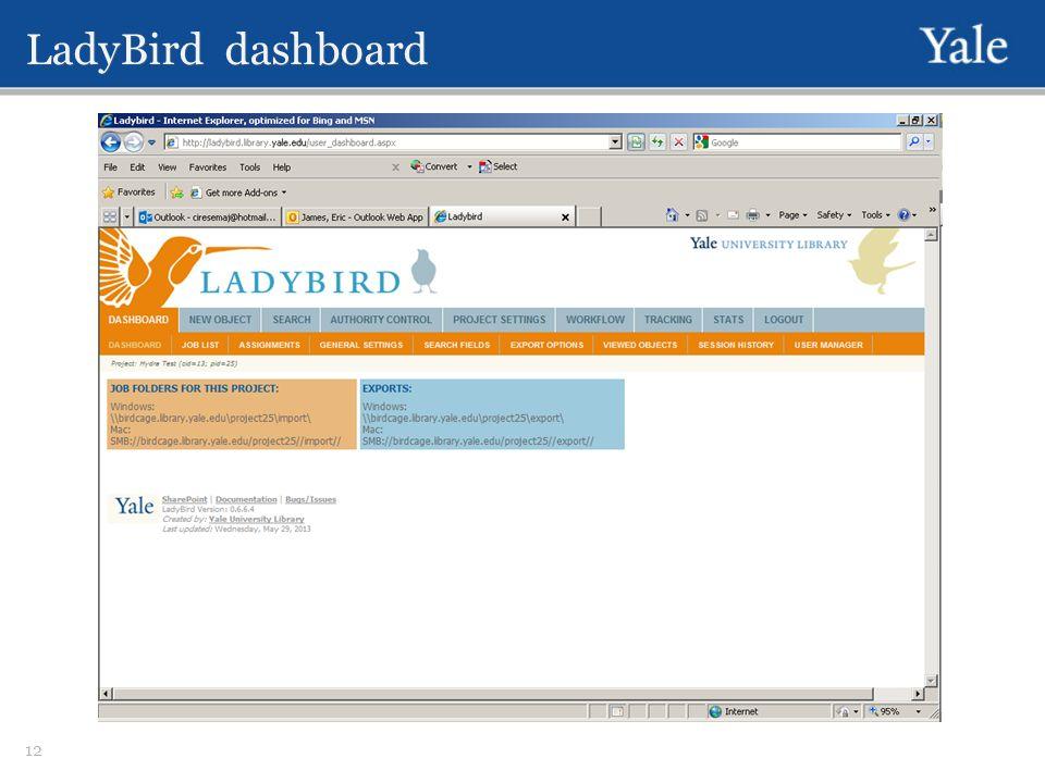 LadyBird dashboard 12