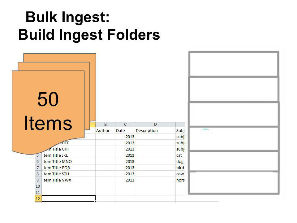 Bulk Ingest: Build Ingest Folders 50 Items