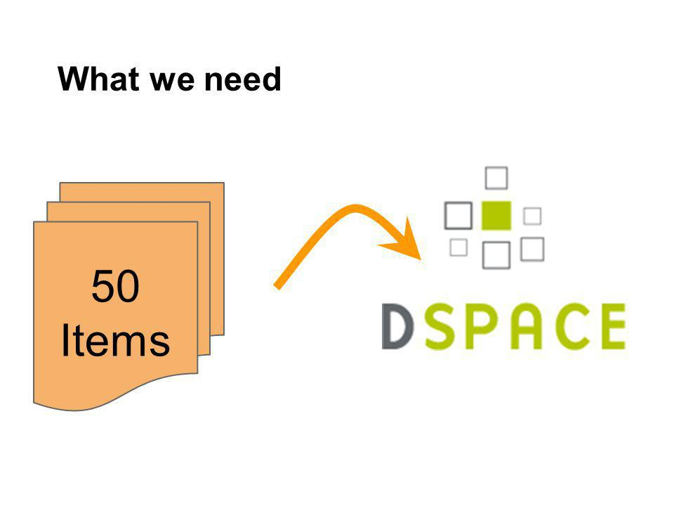 What we need 50 Items