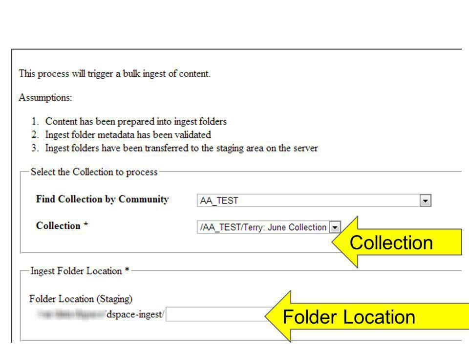 Collection Folder Location